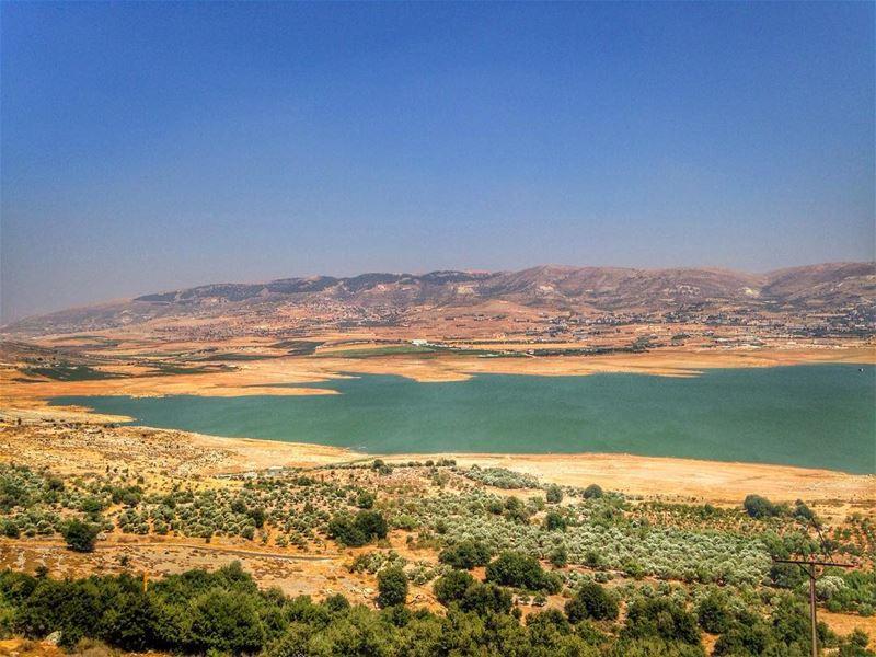 Qaraoun Lake. livelovebekaa livelovelebanon bekaa qaraoun landscape ... (Lake Qaraoun)