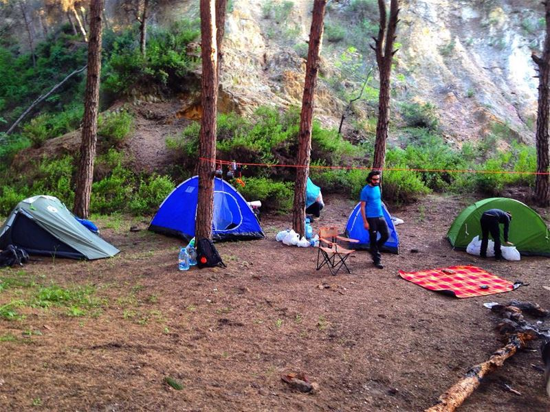 Let's camp✌️☺️ lebanon camp camping greatweather peace beauty ...