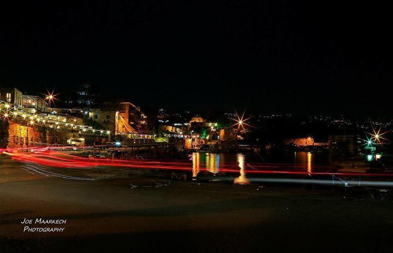 Byblos Bay/ Mina Jbeil, Lebanon byblos jbeil lebanon reflection night... (Byblos, Lebanon)