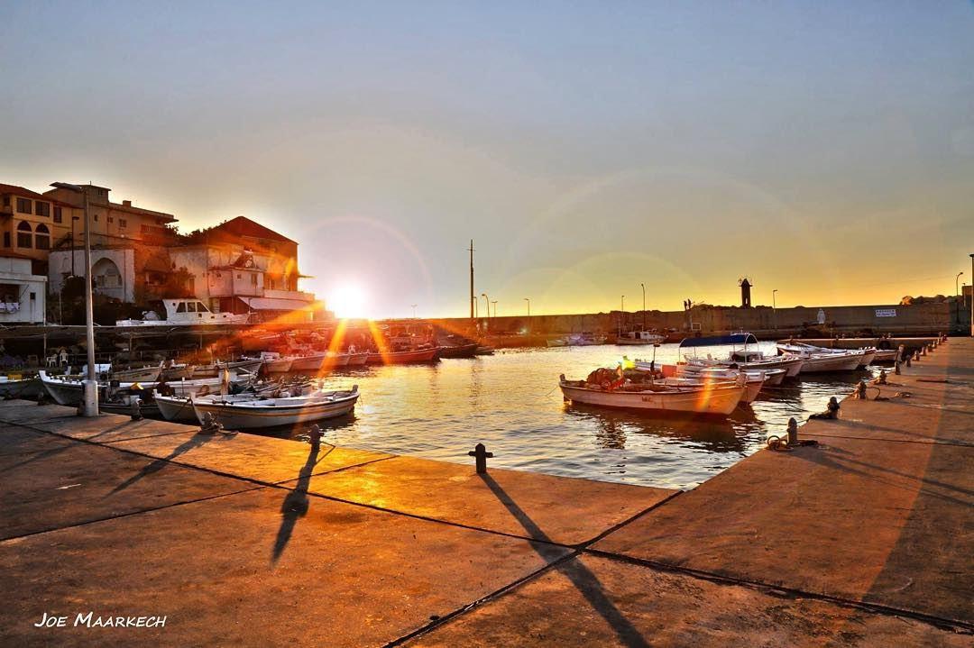 Batroun Bay. batroun lebanon bay mina boat sun sunset sky water ...