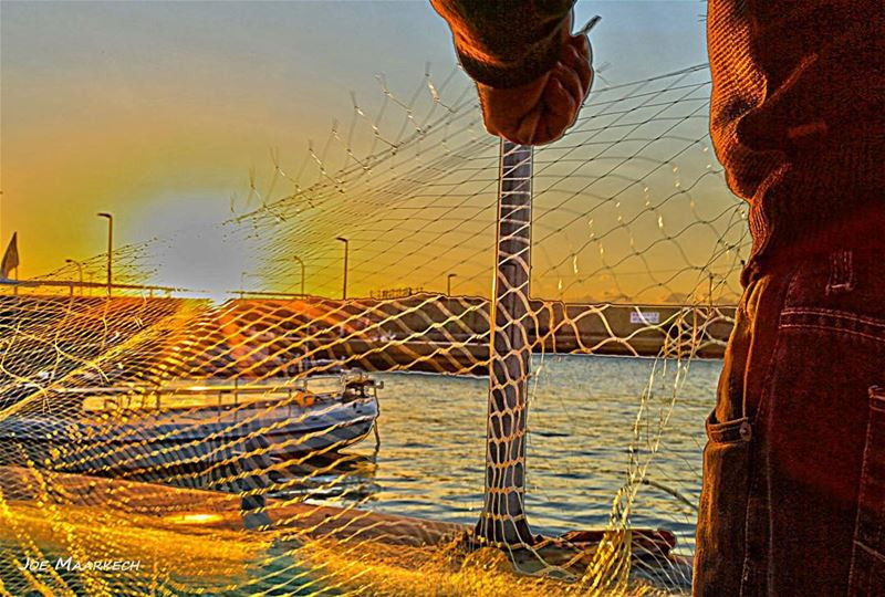 Fisherman, Batroun Bay. lebanon batroun mina bay boat fisherman sea...