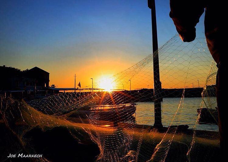 Batroun Bay ⚓️ lebanon batroun sunset sunsets sea fisher fisherman ...