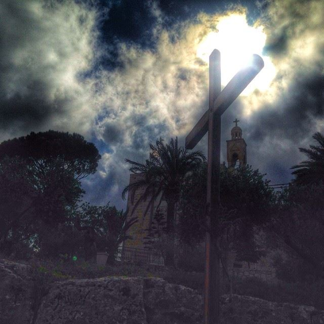 Lebanon heaven clouds sun monastery cross peace pray love nature...