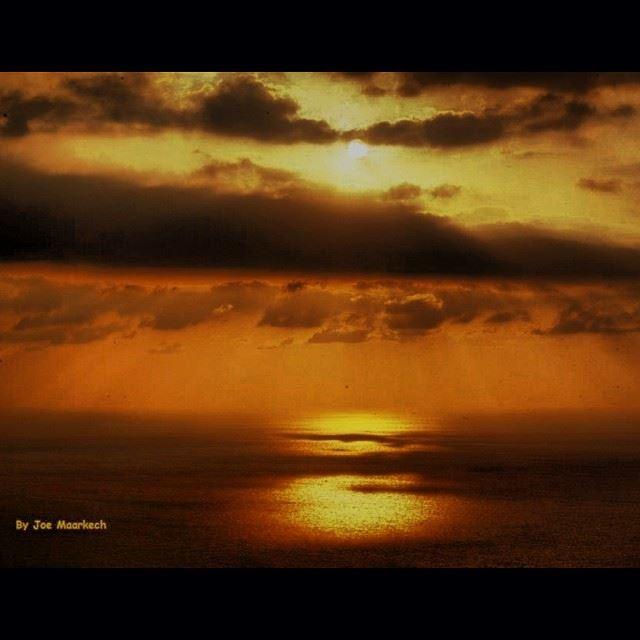 InstaSize lebanon love sunset photography view sea sun clouds ...