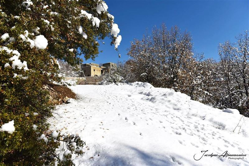 """Take only memories,leave only footprints."" morning memories life winter... (Kfardebian Lebanon)"