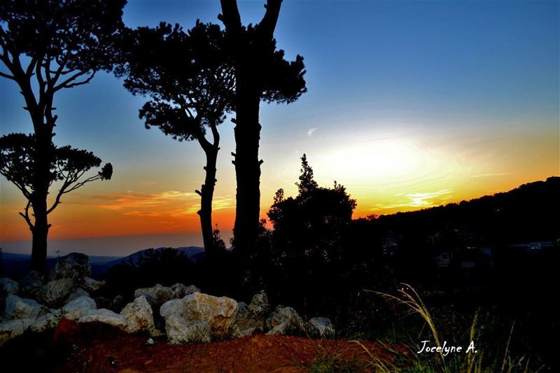 """Sunset is the opening music of the night"" sunset night music beauty... (Bolonya,mrouj)"