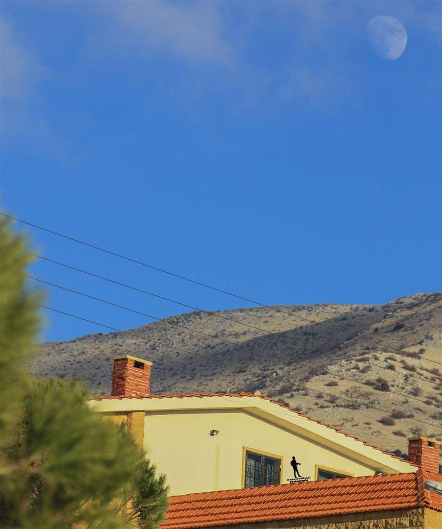 house oldhouse moon bluesky colors nature jbaa chouf mountains...