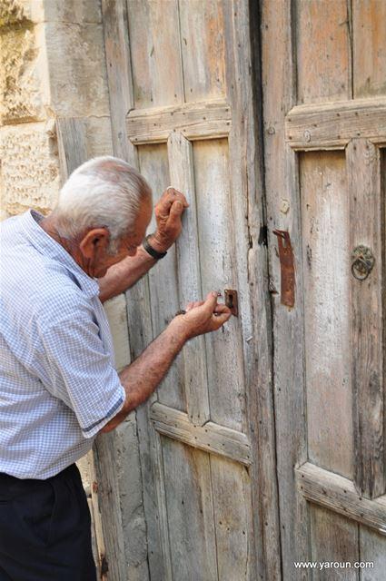Abou Elias Opening the Door