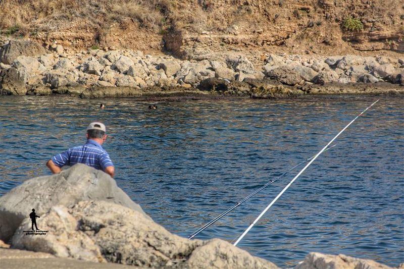 ...بعد في أمل morning fishing huntingfish jbeil_byblos_lebanon ...