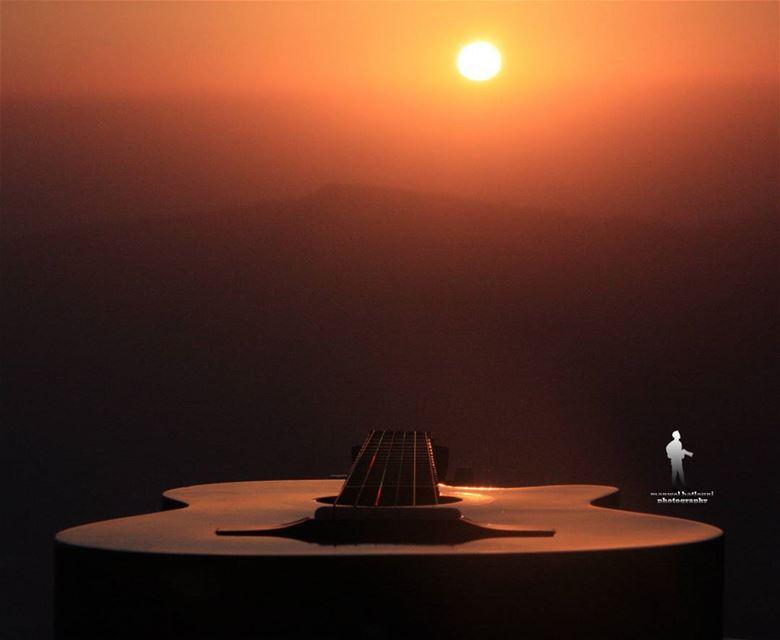 When words fail music speaks.... guitar music sunset sun greatshot ...
