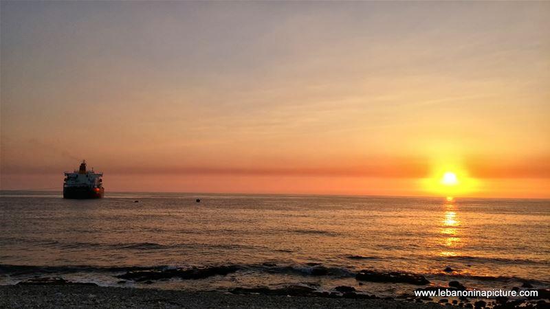 Sailing Away at Sunset (Amchit Lebanon)