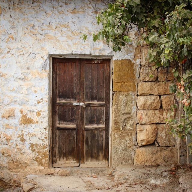 Home on canvas.. colors color texture home door doorportrait wall ... (Ehden, Lebanon)