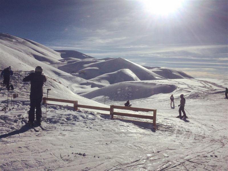 Creamy mountains 🍦 livelovelebanon lebanon livelovefaraya faraya ... (Faraya Mzaar)