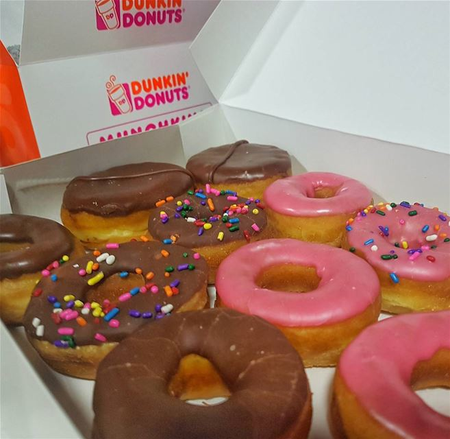 🍩🍩🍩 donuts  dunkindonuts  ddlebanon  yummy  delicious  dailyfoodfeed ...