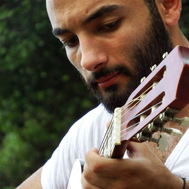 When I'm having a bad day, I pick up my guitar. instamood weather ... (Tannourine El Tahta)