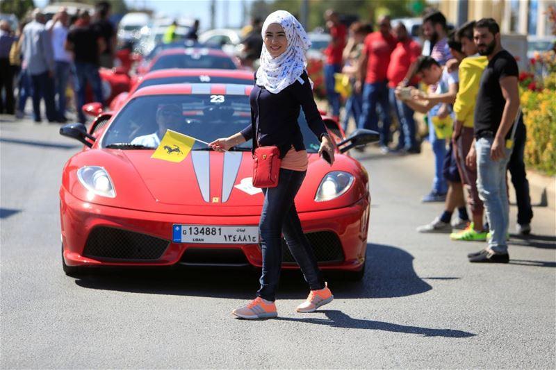 A girl and a Ferrari in Marjayoun
