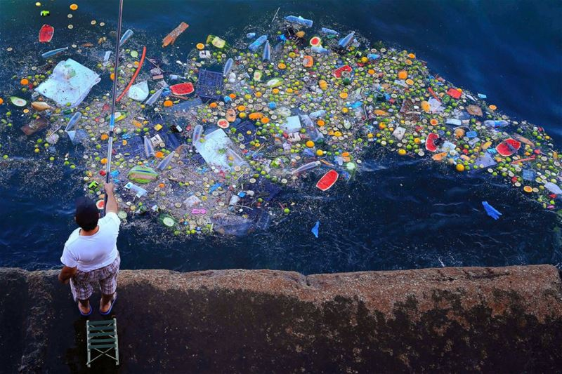 Floating Trash in Beirut