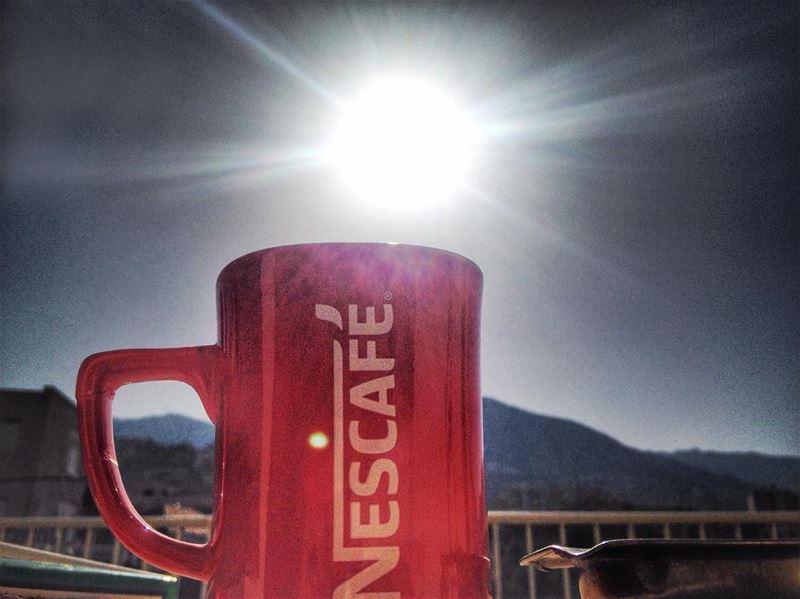 Morning...☕️ goodmorning morning sunnyday sun stillsummer nescafe ...