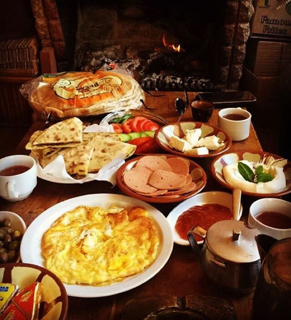cedars arz breakfast at Tirol Hotel (Al Arz, North Lebanon)