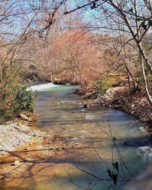 تمد الطبيعة نحونا يد الولاء وتطلب منا ان نتمتع بجمالها فنخشى سكينتها ونلتجئ (Hasbani River- Hasbaya)