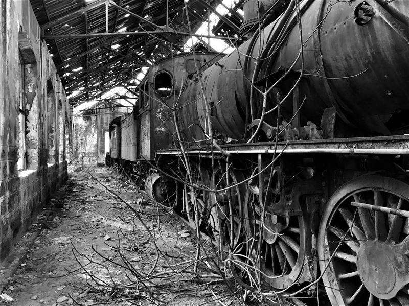 1911 Tripoli's Old train station lebanon blackandwhitephotography ... (Tripoli Train Station)