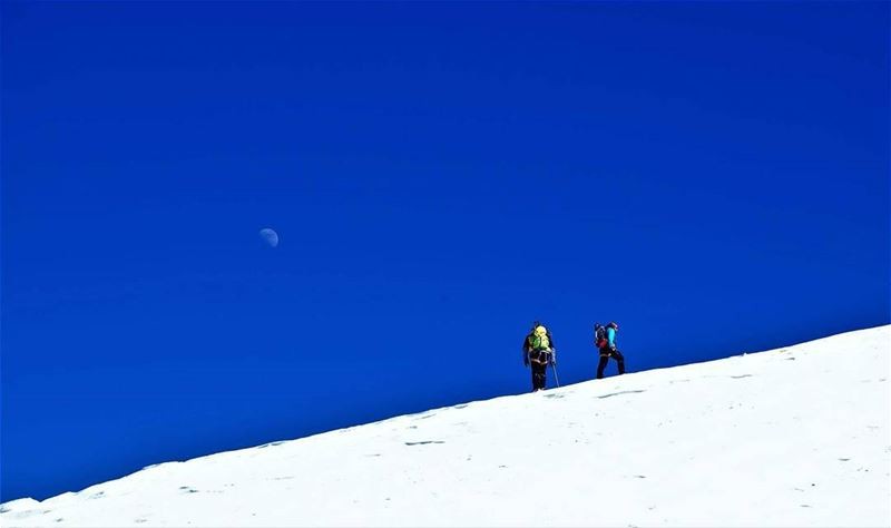 Up where we belong near the Summit and the sky. ascending sannine ... (Mount Sannine)