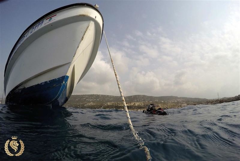 Going to boat after dive in batroun lebanon by ...