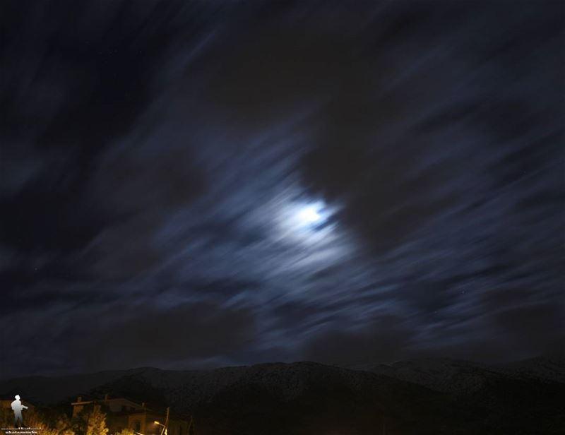 Time ti dream. sky clouds☁ moon snow chouf jbaa lebanon...