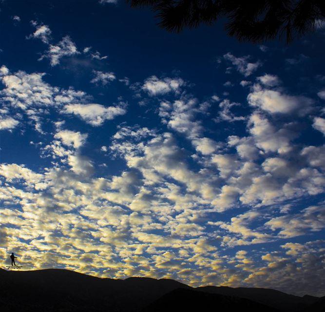 صباح الخير morning sunshine sky coldweather chouf jbaa lebanon...