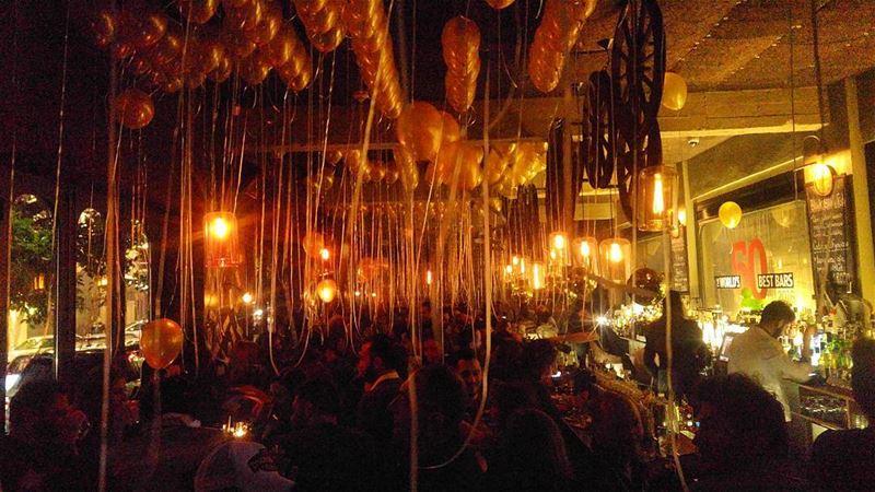 balloons & lights 🎈... lebanon beirut nightlife bar bartenders ...