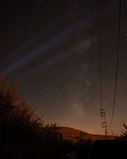 Lost in the right direction............... stars milkyway ... (Ehden, Lebanon)