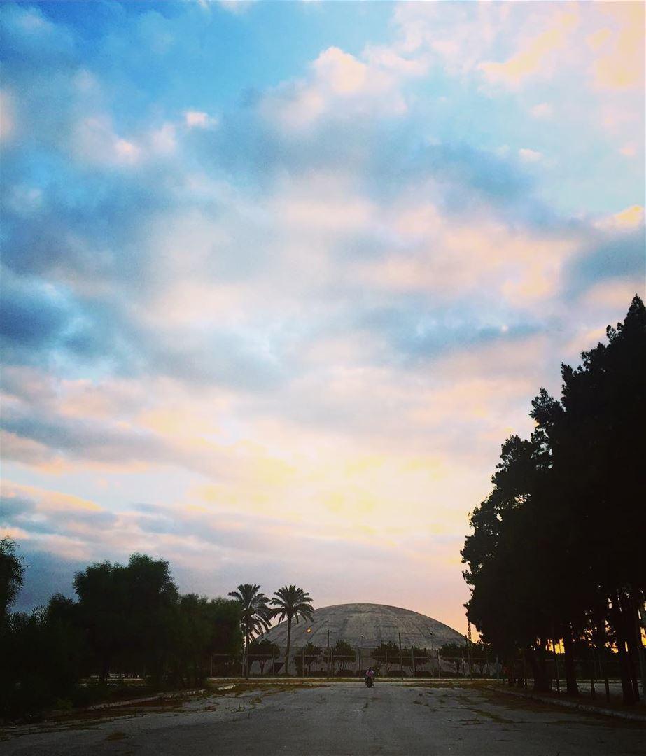 Unrealistic city calls witness of wanderers. sunrise sky skyscape ... (Tripoli, Lebanon)