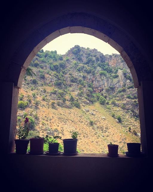 Hope takes shapes in what a human can despair. hope window arch ... (Tannourine El Tahta)