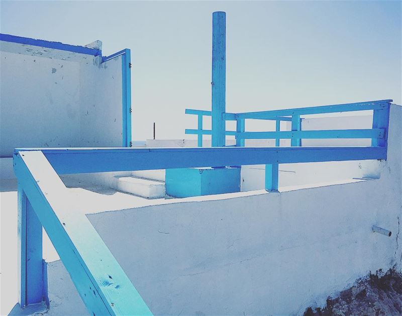 Architectural sophistication. color blue summer anfeh white ... (Anfeh, Lebanon)
