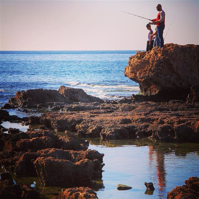 Fishing mood monday fishing fish fisherman sea beach monday start ... (El-Mina, Tripoli)