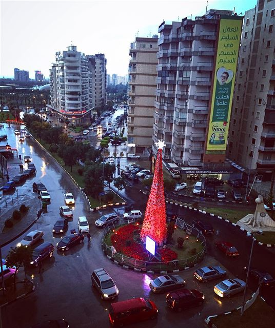 It feels so warm under the rain! rain winter town city tripoli ... (Tripoli, Lebanon)