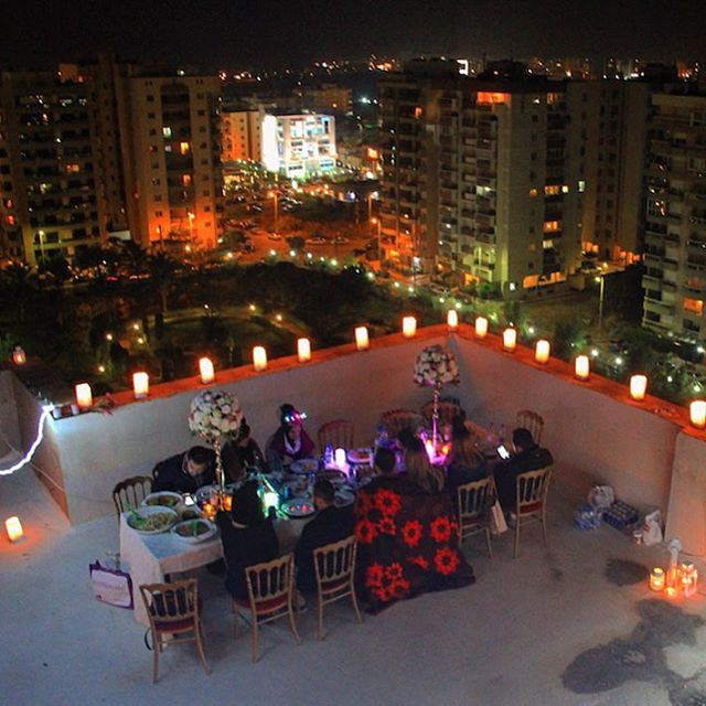 Tonight we're not counting stars. rooftop dinner dineralacarte classy... (Tripoli, Lebanon)
