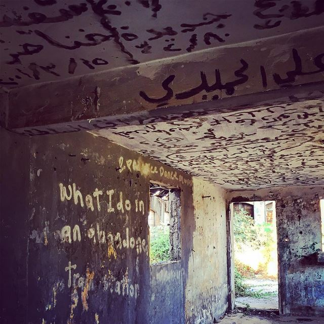What I do in an abandoned train station, well done!  typo  typography ... (Tripoli Train Station)