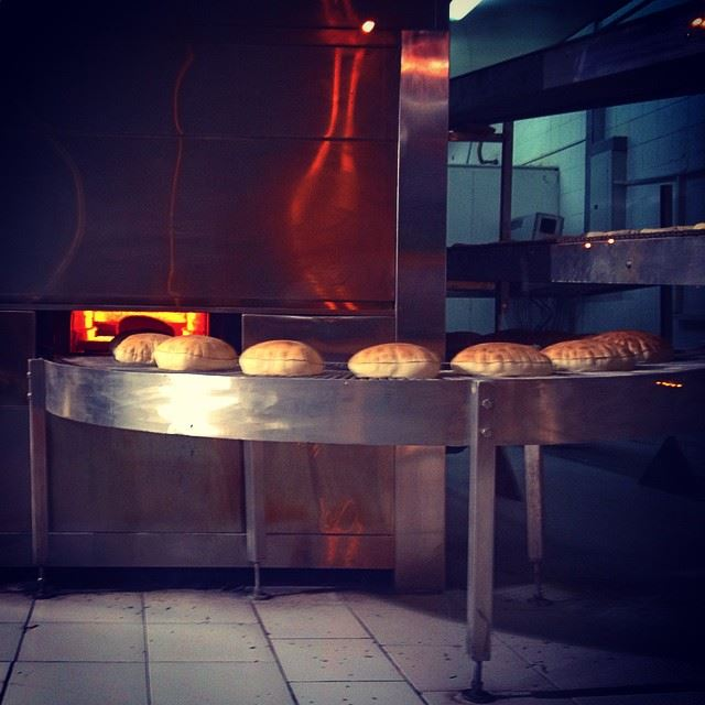 lebanese  arabic  bread  oven  making  heat  fire  tradition  traditional...