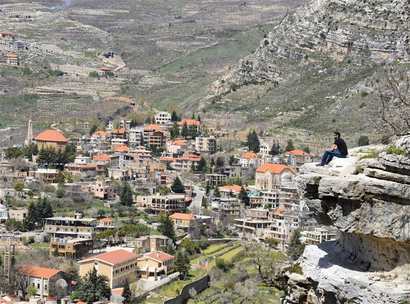 Climb Mountains Not so the World Can See You , But So You Can See The... (Akoura, Mont-Liban, Lebanon)
