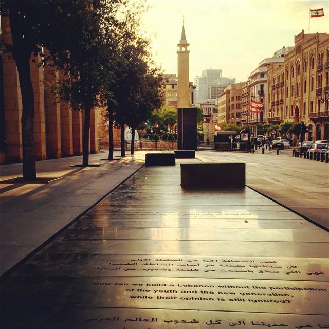 "Happy Independence Day Lebanon""How can we build a Lebanon without the... (Beirut Down Town)"