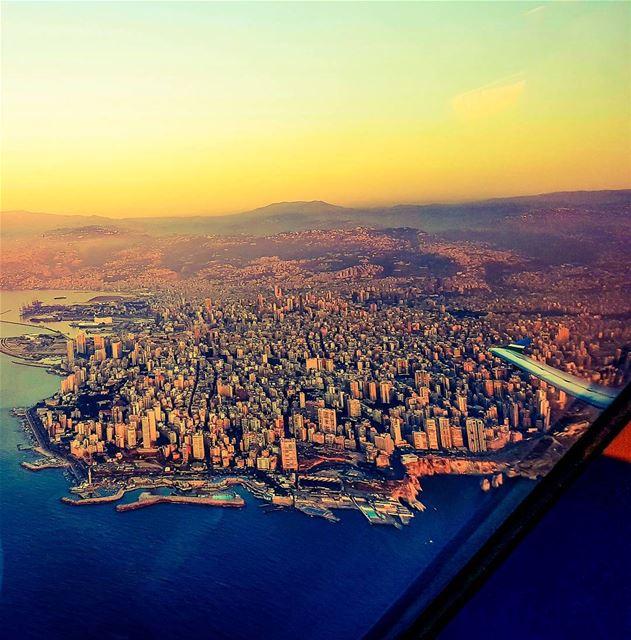 That sunset takeoff... pilotseye cockpitview pilotlife airbus lebanon...