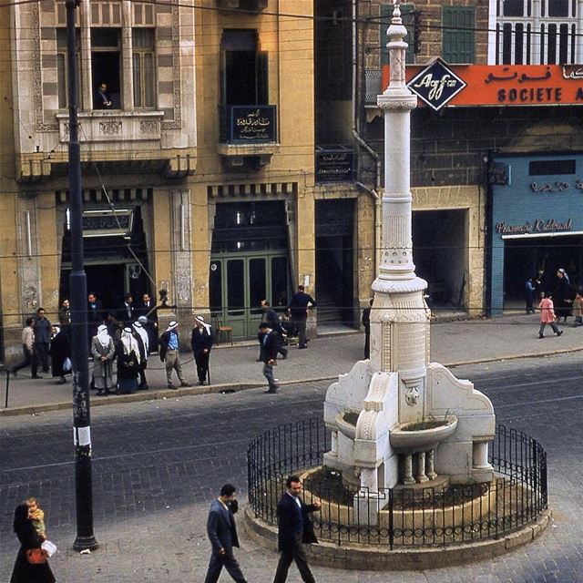 بيروت ساحة رياض الصلح عام ١٩٥٥