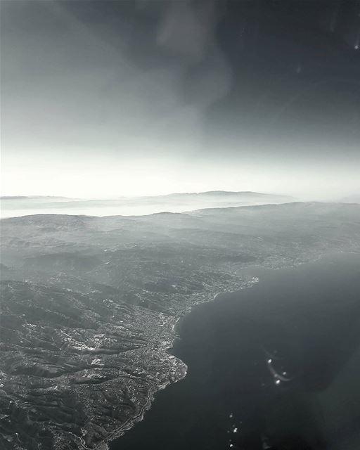 The lebanese coast from above ! pilotseye cockpitview eyeinthesky ...