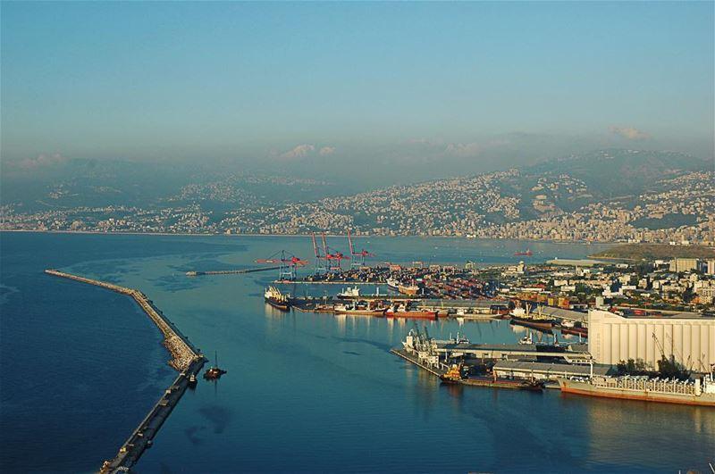 صباح_الخير لبنان بيروت تصويري تصوير جوي صورة جوية لمدينة بيروت في...