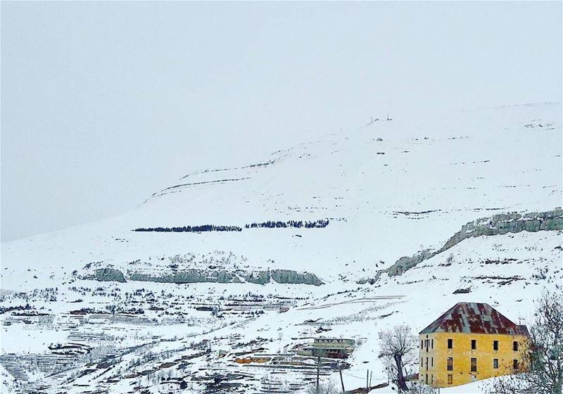 Cold outside....Warm inside ✌ Baskinta Lebanon Lebanese Alps AlMaten... (Baskinta, Lebanon)