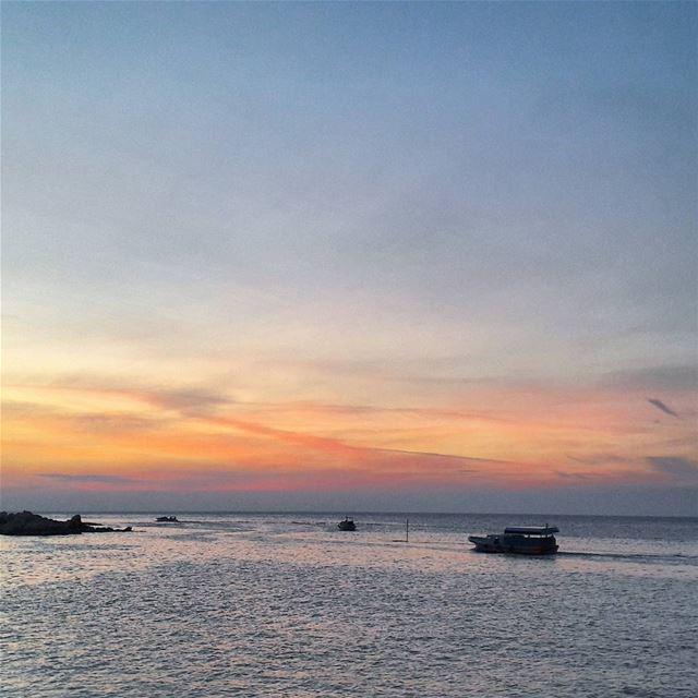 🌅 Tripoli TripoliLB Beautiful Sunset Keepcalm Mediterranean Sea... (Kornich El-Mina)