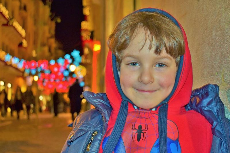 The cutest Spiderman Spiderboy Brother CuteBoy People Kids ... (Downtown, Beirut, Lebanon)