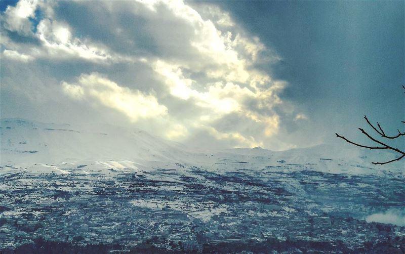 ❄❄❄ Lebanon Lebanese Bsharri village landscape Clouds Snow ... (Bcharri, Liban-Nord, Lebanon)