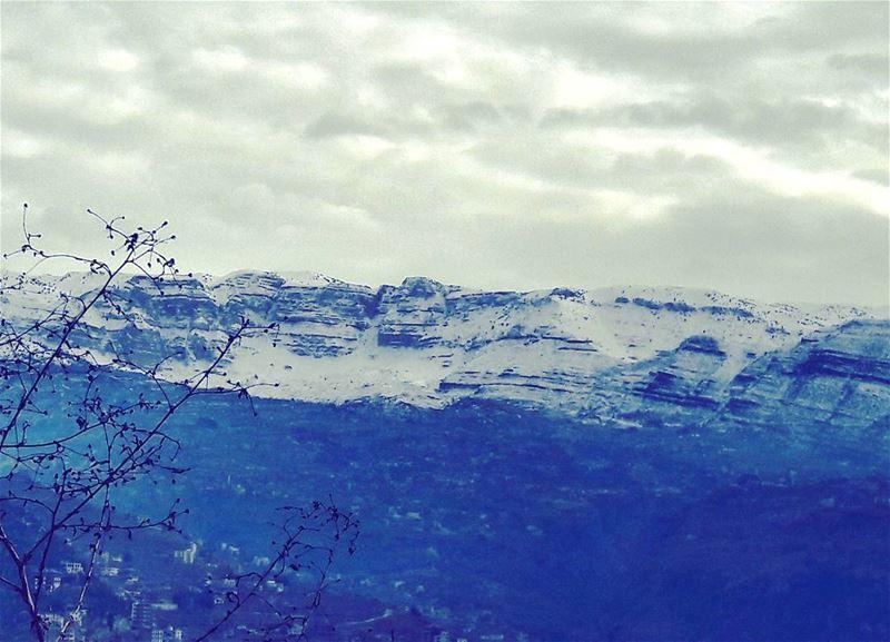❄ Lebanon Lebanese Dannieh village landscape Clouds Snow ... (Minieh-danieh)
